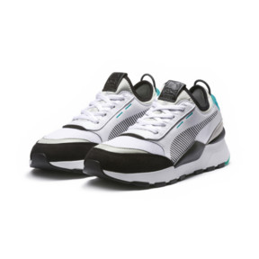 Thumbnail 2 of RS-0 Re-Invention Trainers, White-GrayViolet-BiscayGreen, medium
