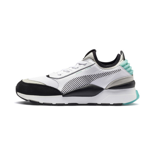 RS-0 Re-Invention Trainers, White-GrayViolet-BiscayGreen, large