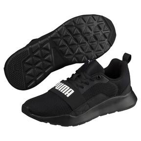 Thumbnail 2 of PUMA Wired Sneakers JR, Puma Black-Puma Black- Black, medium