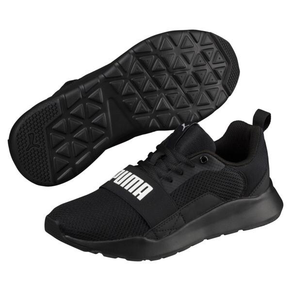PUMA Wired Sneakers JR, Puma Black-Puma Black- Black, large
