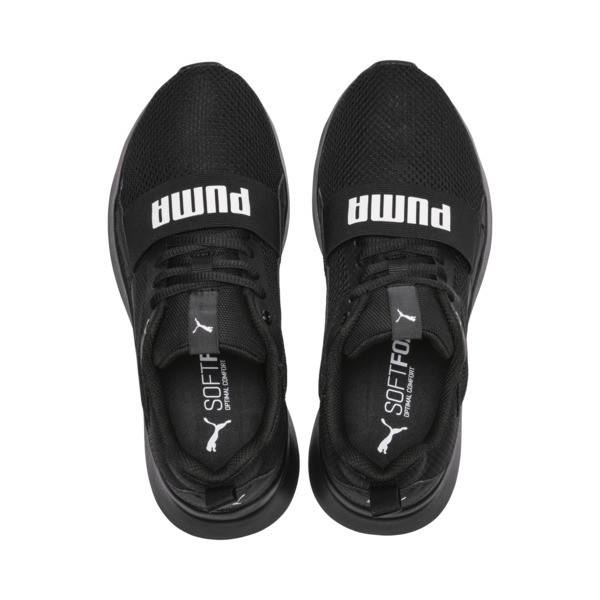 PUMA Wired Kids' Trainers, Puma Black-Puma Black- Black, large