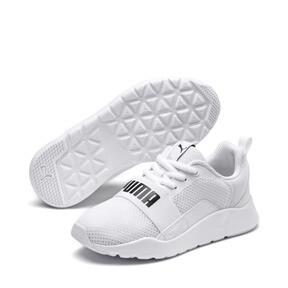 Thumbnail 2 of PUMA Wired Little Kids' Shoes, Puma White-Puma White-White, medium