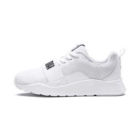 Thumbnail 1 of PUMA Wired Little Kids' Shoes, Puma White-Puma White-White, medium