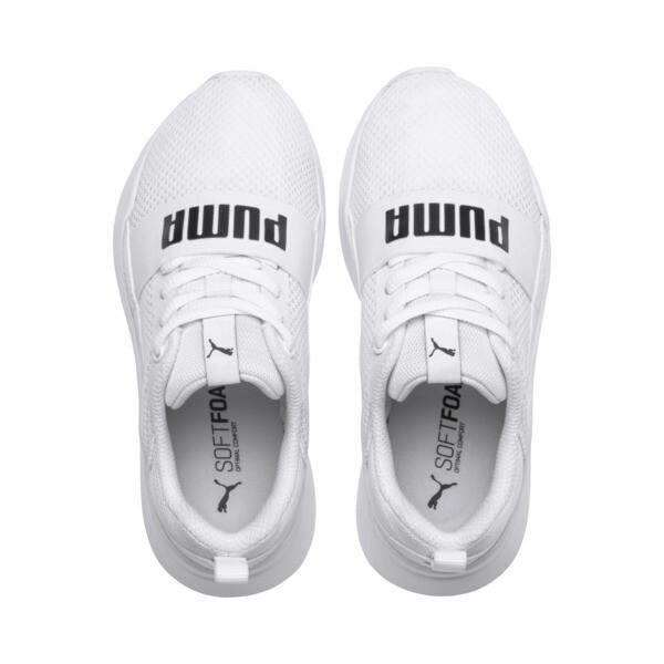 PUMA Wired Little Kids' Shoes, Puma White-Puma White-White, large