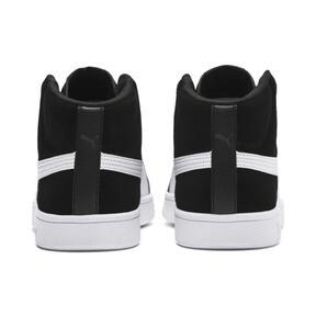 Thumbnail 4 of PUMA Smash v2 Suede Mid Sneakers, Puma Black-Puma White, medium