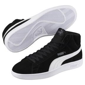 Thumbnail 2 of PUMA Smash v2 Suede Mid Sneakers, Puma Black-Puma White, medium