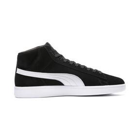 Thumbnail 5 of PUMA Smash v2 Suede Mid Sneakers, Puma Black-Puma White, medium