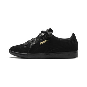 Thumbnail 1 of Puma Vikky Ribbon Dots Sneakers, Puma Black-Puma Black, medium