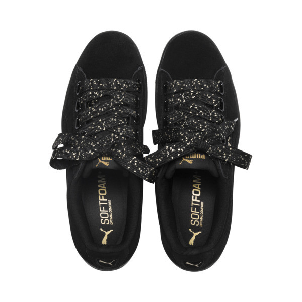 Puma Vikky Ribbon Dots Sneakers, Puma Black-Puma Black, large