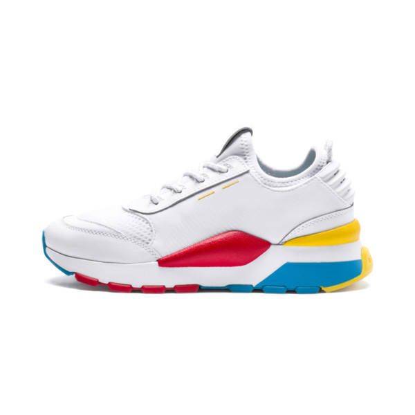 RS-0 PLAY Kinder Preschool Sneaker, White-Puma White-White, large