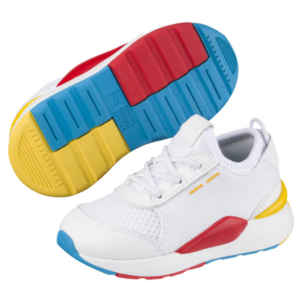 RS-0 Play Alternate-Closure Baby's Sneakers, White-Puma White-White, large