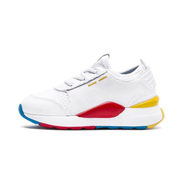 RS-0 Play Alternate-Closure Baby's Shoes, White-Puma White-White, large