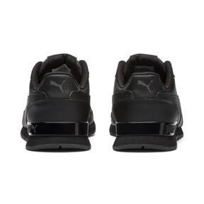 Miniatura 4 de Zapatos deportivos de cuero ST Runner v2 para niño joven, Puma Black-Dark Shadow, mediano