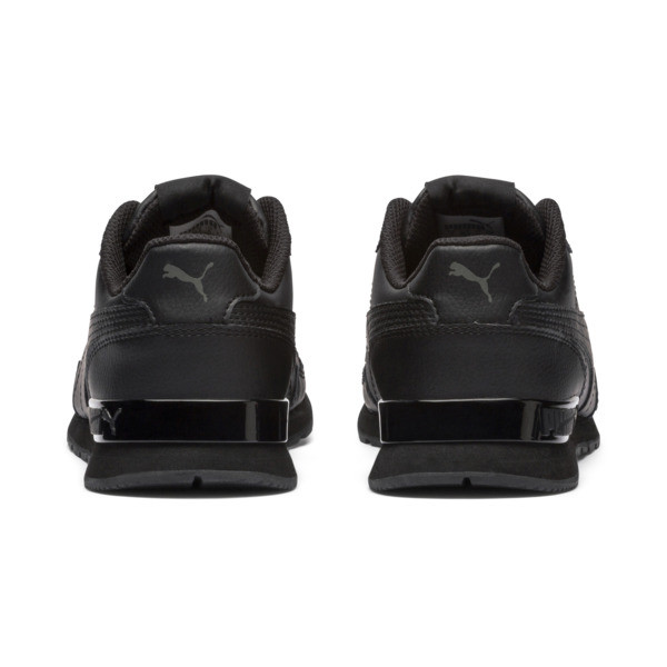 Zapatos deportivos de cuero ST Runner v2 para niño joven, Puma Black-Dark Shadow, grande