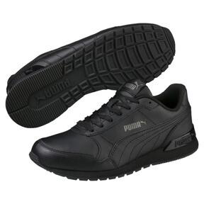 Miniatura 2 de Zapatos deportivos de cuero ST Runner v2 para niño joven, Puma Black-Dark Shadow, mediano