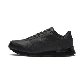 Miniatura 1 de Zapatos deportivos de cuero ST Runner v2 para niño joven, Puma Black-Dark Shadow, mediano