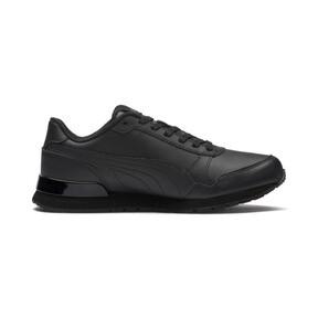 Miniatura 5 de Zapatos deportivos de cuero ST Runner v2 para niño joven, Puma Black-Dark Shadow, mediano