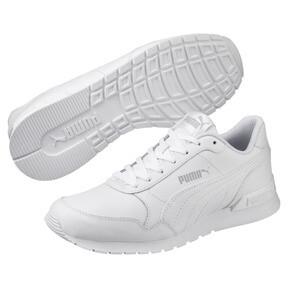 Miniatura 2 de Zapatos deportivos de cuero ST Runner v2 para niño joven, Puma White-Gray Violet, mediano