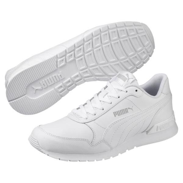 Zapatos deportivos de cuero ST Runner v2 para niño joven, Puma White-Gray Violet, grande