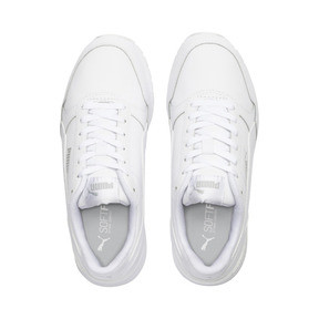 Miniatura 6 de Zapatos deportivos de cuero ST Runner v2 para niño joven, Puma White-Gray Violet, mediano