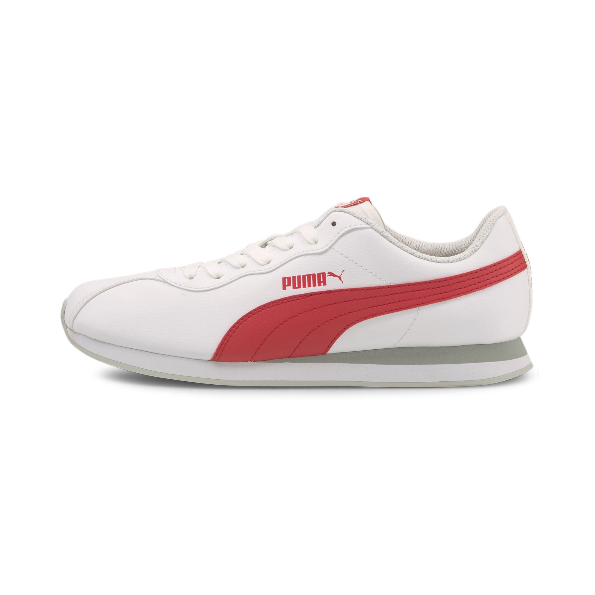Puma White-Poppy Red