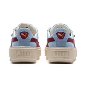 Thumbnail 4 of Platform Trace Corduroy Women's Sneakers, CERULEAN-Pomegranate, medium
