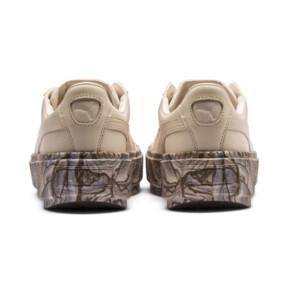 Thumbnail 4 of Platform Trace Mimicry Women's Sneakers, Vanilla Cream-Vanilla Cream, medium