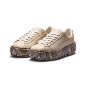 Thumbnail 2 of Platform Trace Mimicry Women's Sneakers, Vanilla Cream-Vanilla Cream, medium