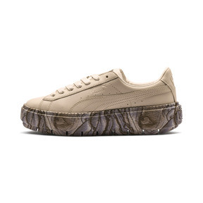 Thumbnail 1 of Platform Trace Mimicry Women's Sneakers, Vanilla Cream-Vanilla Cream, medium