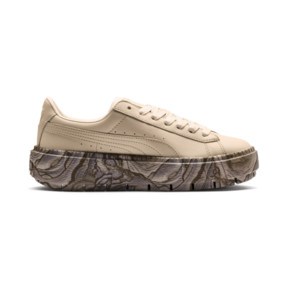 Thumbnail 5 of Platform Trace Mimicry Women's Sneakers, Vanilla Cream-Vanilla Cream, medium