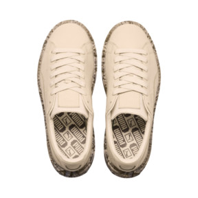 Thumbnail 6 of Platform Trace Mimicry Women's Sneakers, Vanilla Cream-Vanilla Cream, medium