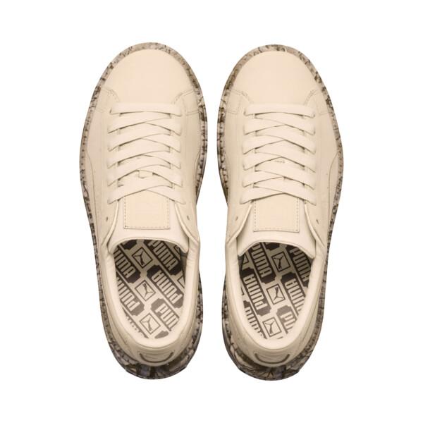 Platform Trace Mimicry Women's Sneakers, Vanilla Cream-Vanilla Cream, large