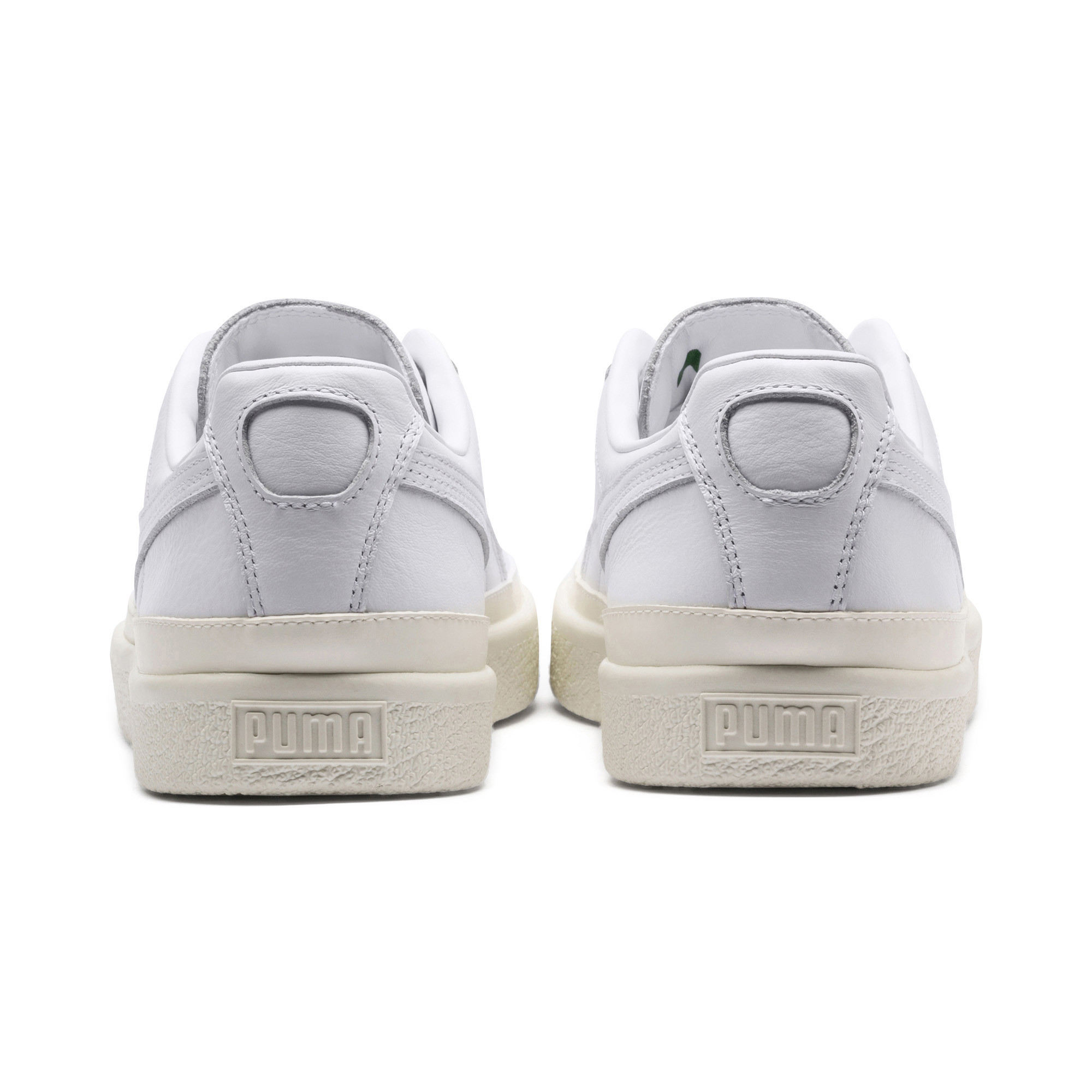 Image Puma Clyde Rubber Toe Leather Sneakers #4