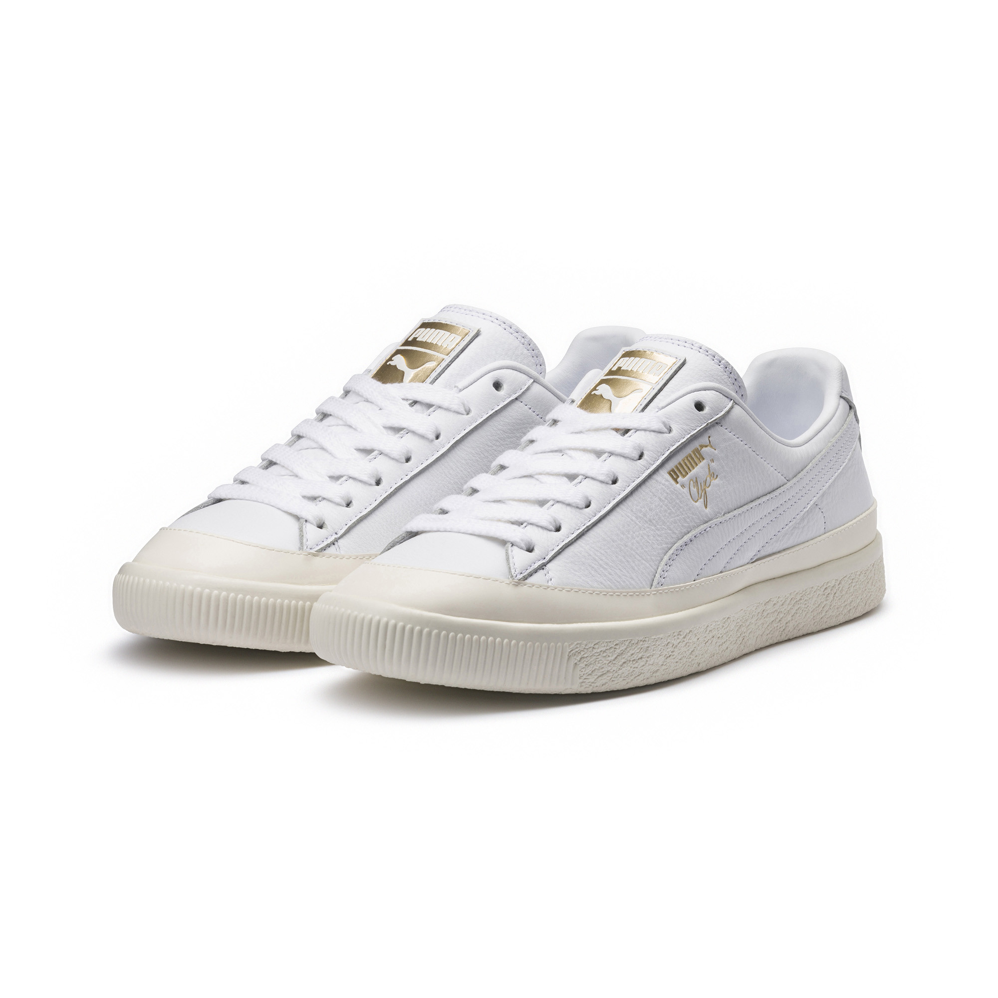 Image Puma Clyde Rubber Toe Leather Sneakers #2