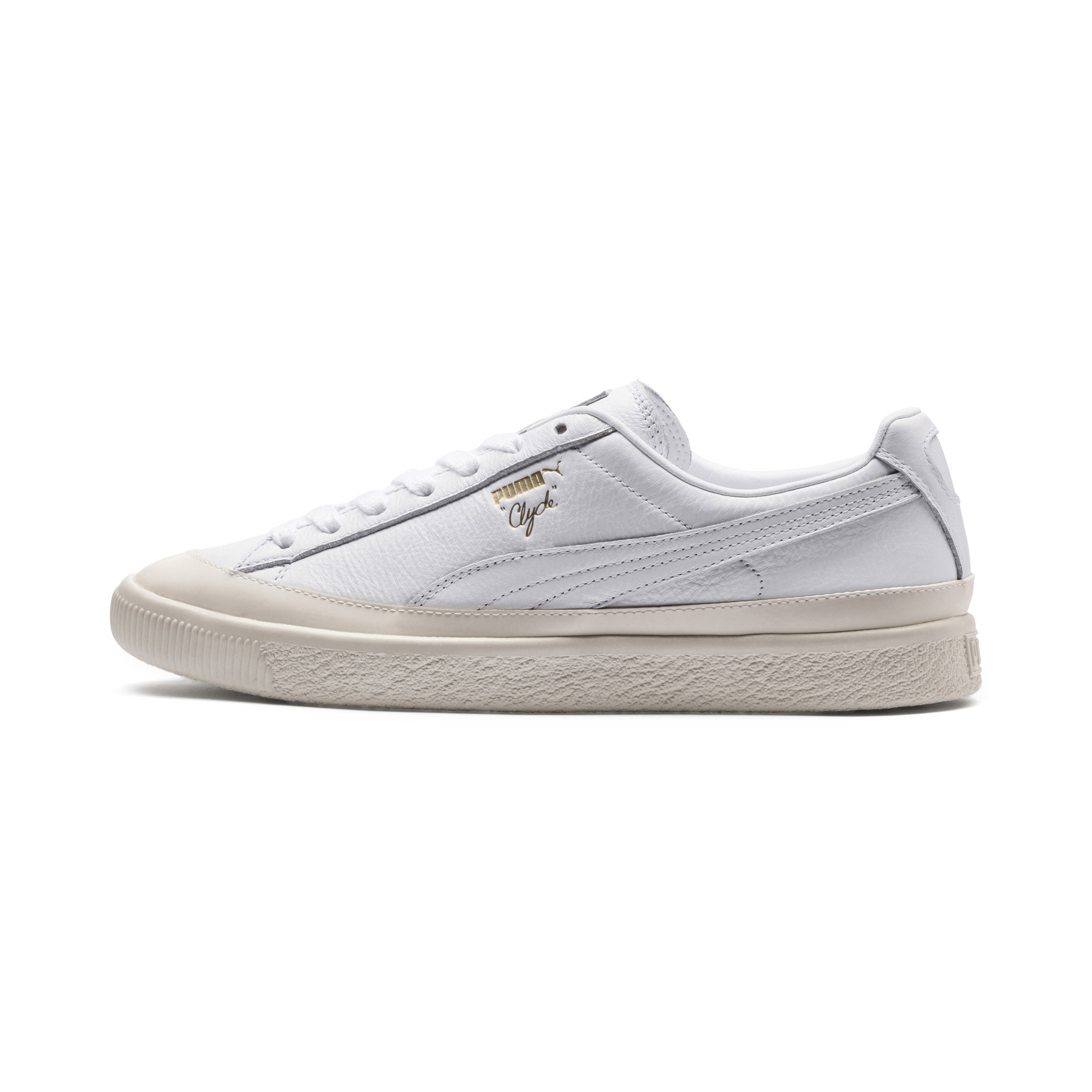 Image Puma Clyde Rubber Toe Leather Sneakers #1