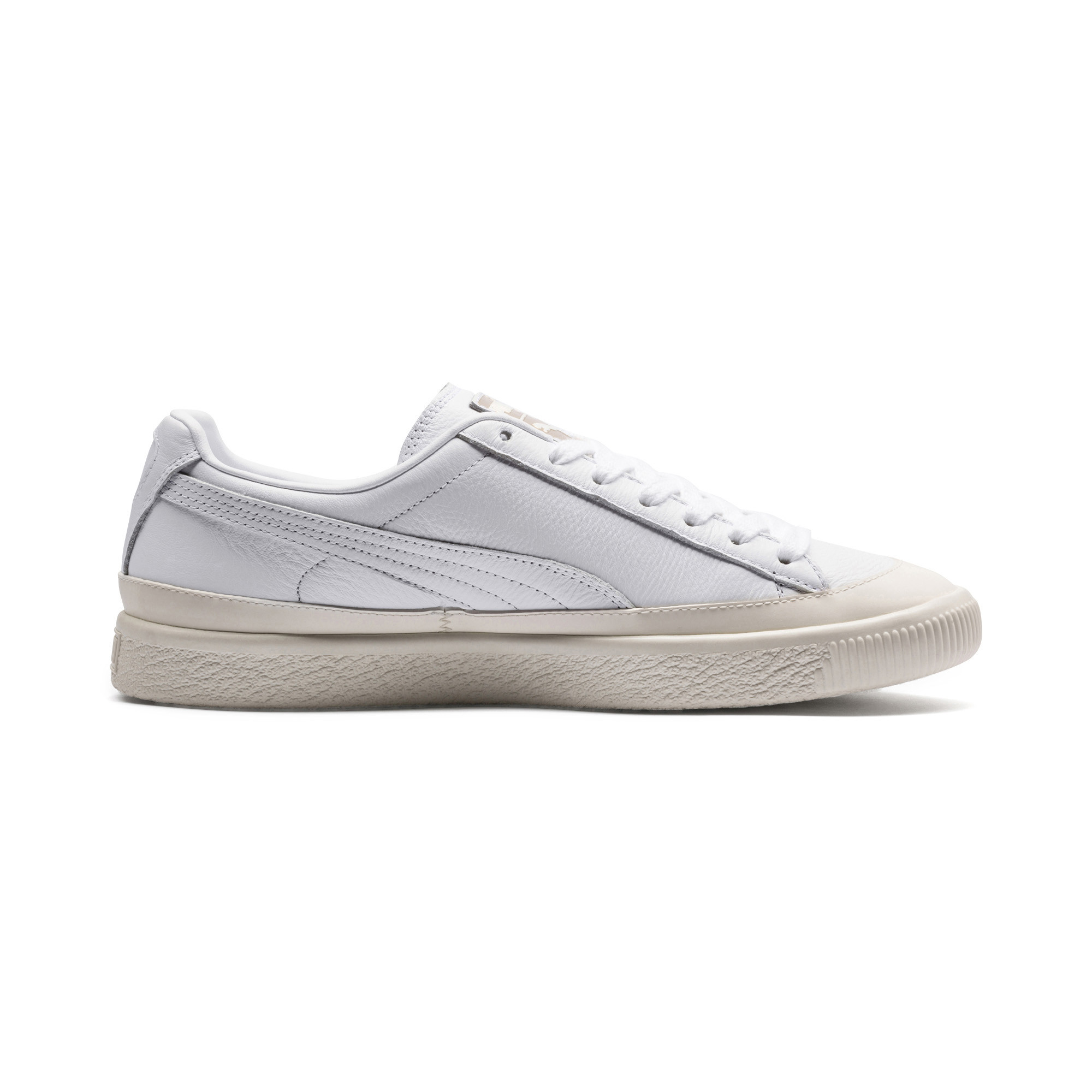 Image Puma Clyde Rubber Toe Leather Sneakers #5