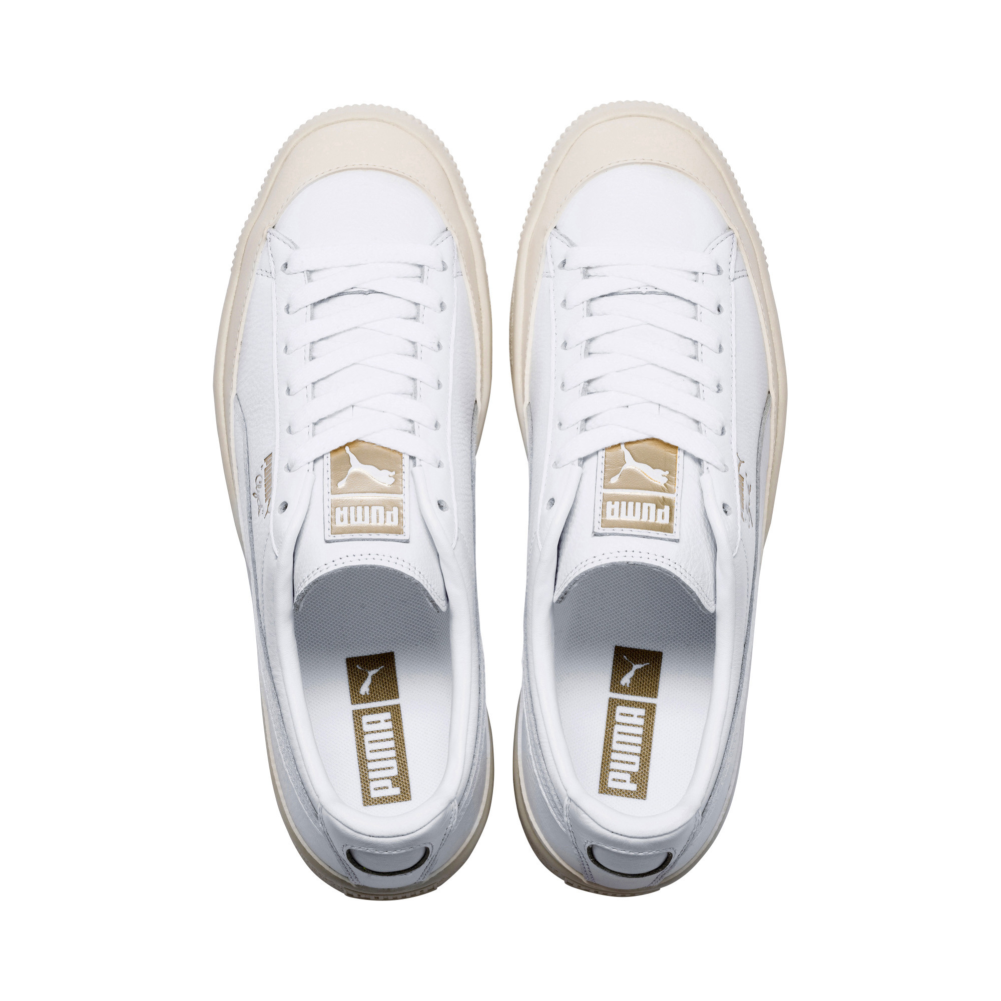 Image Puma Clyde Rubber Toe Leather Sneakers #6
