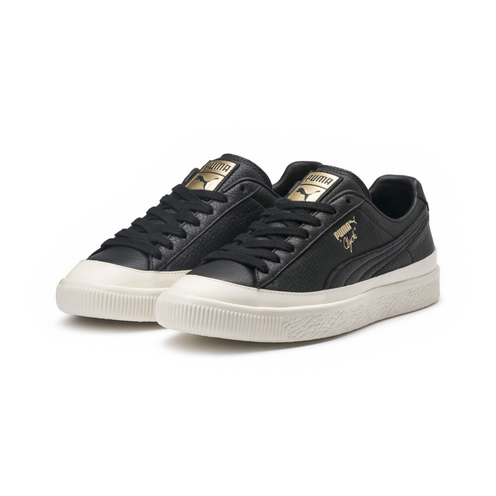 hot sale online 9b964 cc58d Clyde Rubber Toe Leather Sneakers