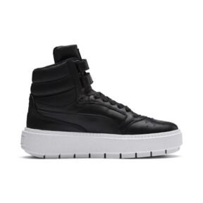 Thumbnail 5 of Platform Trace STMT Women's Sneakers, Puma Black-Puma Black, medium