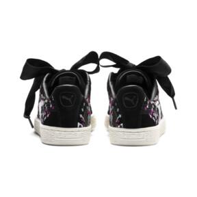 Thumbnail 4 of Suede Heart Embossed Women's Sneakers, Puma Black-Puma Black, medium