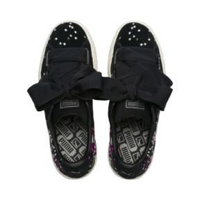 Thumbnail 6 of Suede Heart Embossed Women's Sneakers, Puma Black-Puma Black, medium