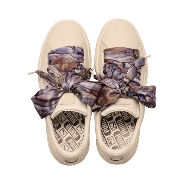 Basket Heart Mimicry Women's Sneakers, Vanilla Cream-Vanilla Cream, large