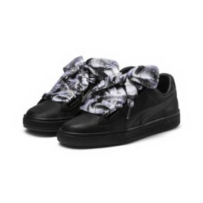 Thumbnail 2 of Basket Heart Mimicry Women's Sneakers, Puma Black-Puma Black, medium
