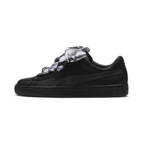 Thumbnail 1 of Basket Heart Mimicry Women's Sneakers, Puma Black-Puma Black, medium