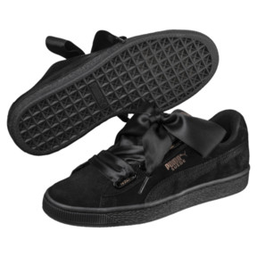 Thumbnail 2 of Suede Heart Arctica Women's Trainers, Puma Black-Puma Black, medium