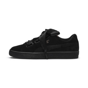 Thumbnail 1 of Suede Heart Arctica Women's Trainers, Puma Black-Puma Black, medium