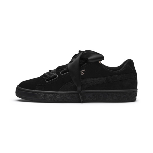 Suede Heart Arctica Women's Trainers, Puma Black-Puma Black, large