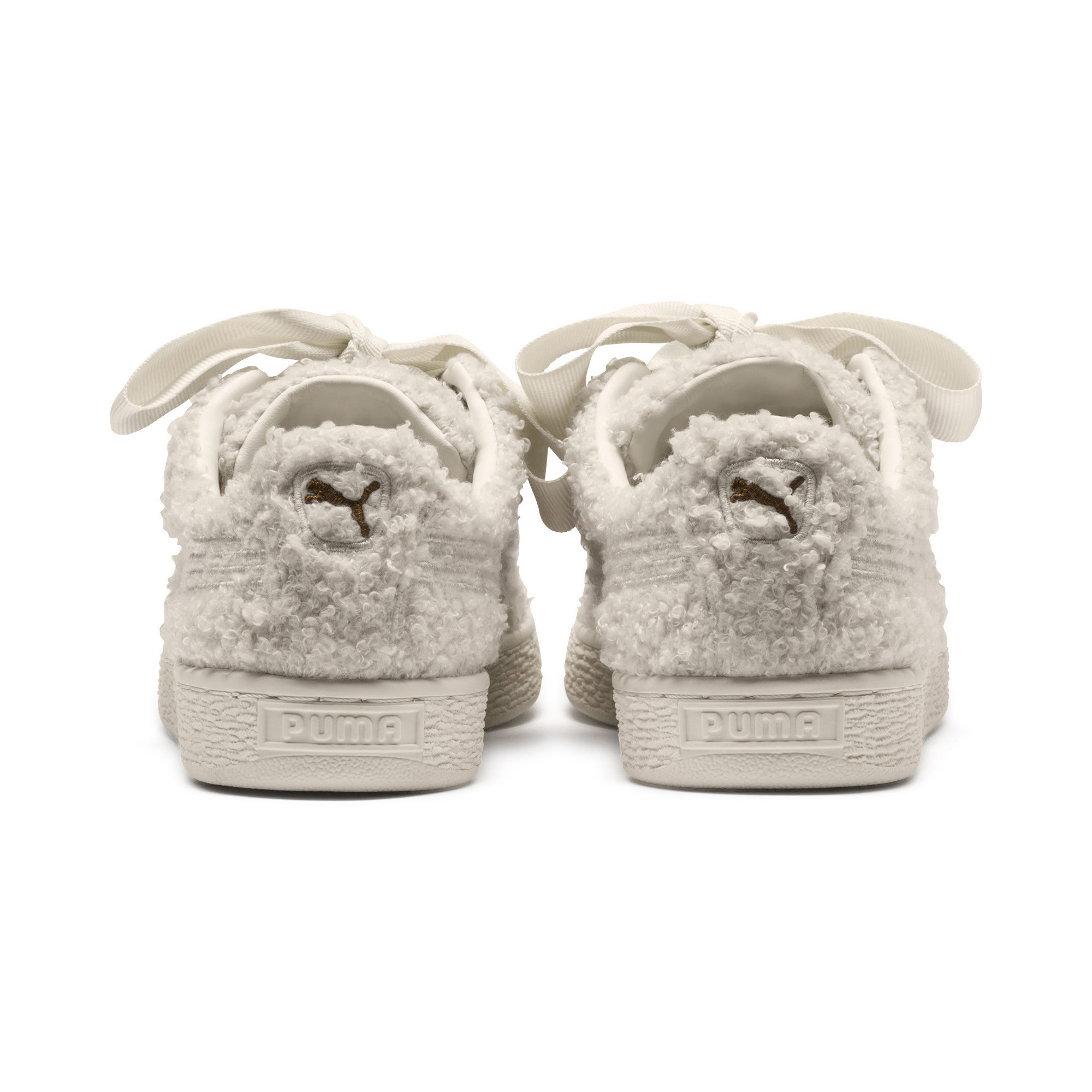 PUMA-Basket-Heart-Teddy-Women-s-Sneakers-Women-Shoe thumbnail 3