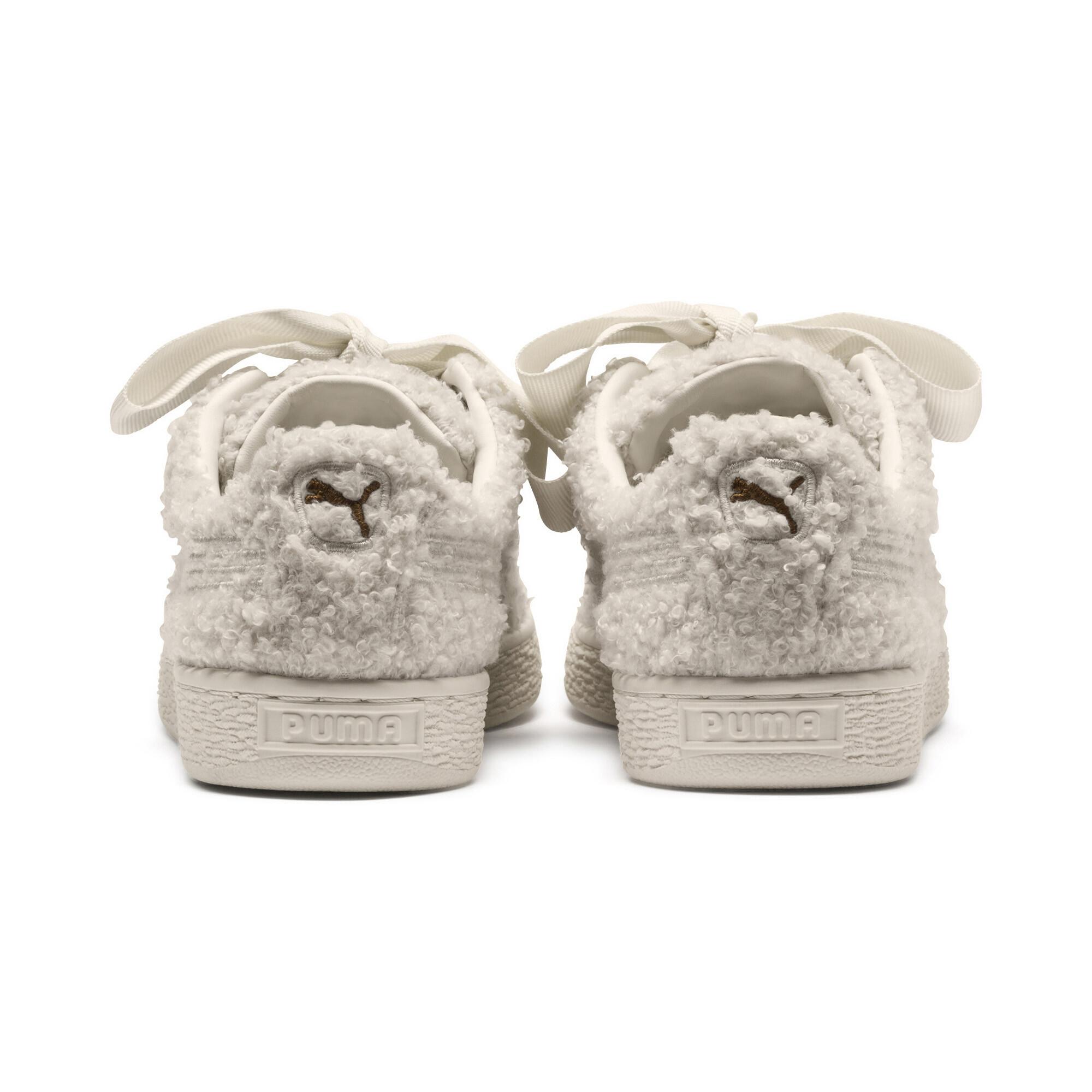 the latest 994c9 8c9f1 Details about PUMA Basket Heart Teddy Women's Sneakers Women Shoe