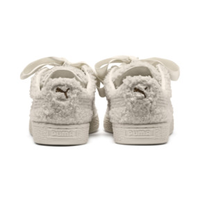 Thumbnail 4 of Basket Heart Teddy Women's Sneakers, Whisper White-Whisper White, medium